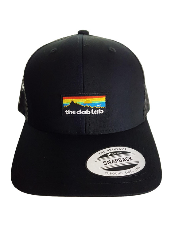 THE DAB LAB - Snapback 6-Panel Trucker Hat (Black)