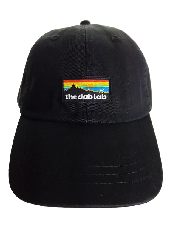 THE DAB LAB - Dad Hat w/ Mesh Lining & Leather Strap (Black)