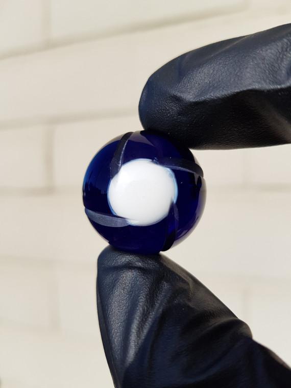 TERP SPHERE - Marble Spinner Carb Cap for Quartz Banger - Brilliant Blue #1