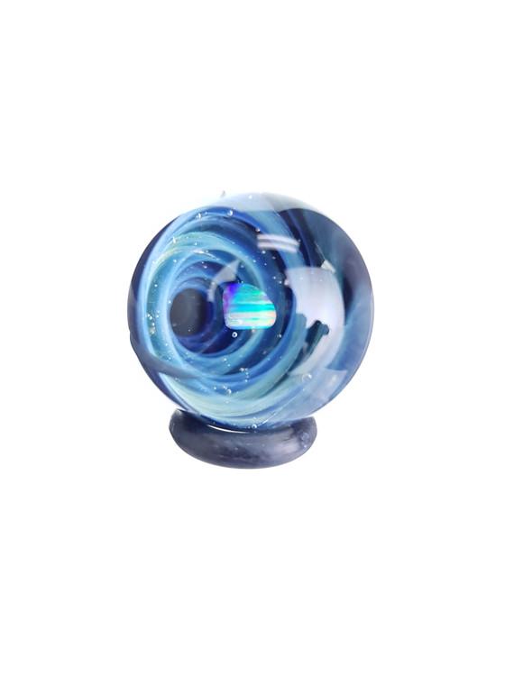 TERP SPHERE - Marble Spinner Carb Cap for Quartz Banger - Opal & Fume Vortex #6