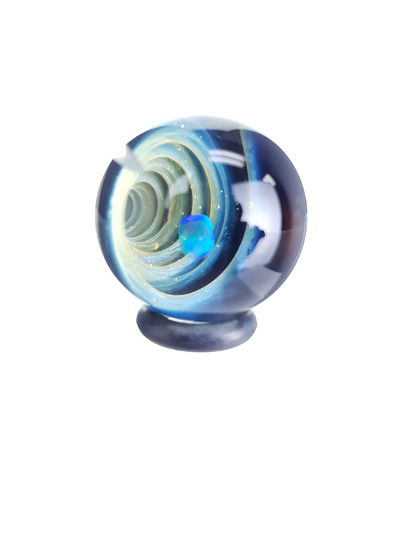 TERP SPHERE - Marble Spinner Carb Cap for Quartz Banger - Opal & Fume Vortex #10