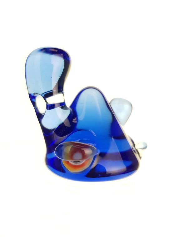 LERK THE WORLD - Glass Lerk Head Pendant - Blue Dream #2