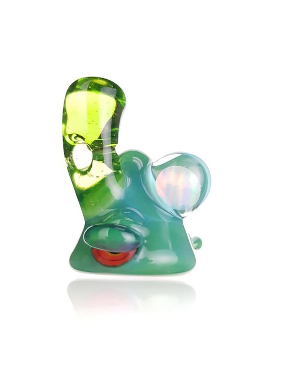 LERK THE WORLD - Glass Lerk Head Pendant w/ Opal Sphere - Plantphibian