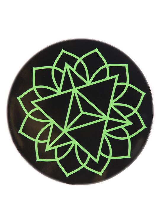 "GRIP MATS - 4.5"" Bong Pad & Dab Rig Adhesive Coaster (Pick a Design / Color)"