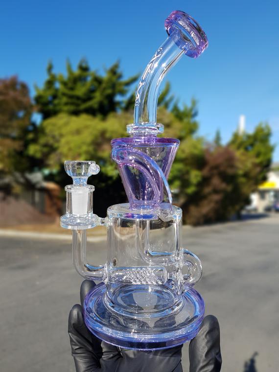 AFM - Gridline Klein Recycler Rig w/ 14mm Slide - Blue/Purple (CFL)