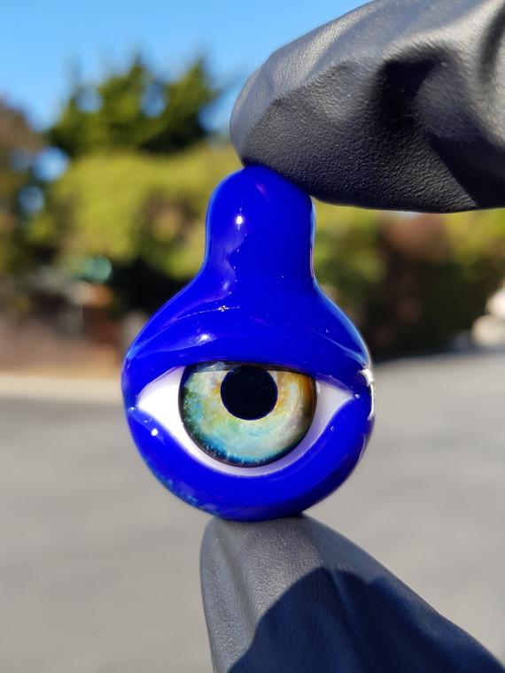 """FEARN GULLY - Glass """"Galaxy Eyeball"""" Pendant - Deja Blue"""
