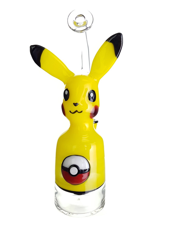 THE GLASS FISH - Pikachu Dab Rig w/ 14mm Female Joint & Carb Cap