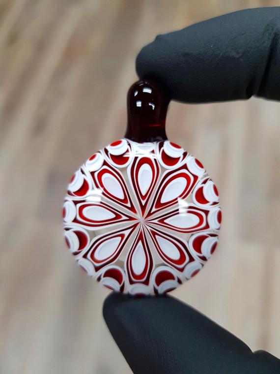 CHIBBS - Dot Stack Glass Pendant - Red Elvis / White