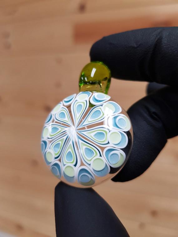 CHIBBS - Dot Stack Glass Pendant - Blue Stardust / Slyrm
