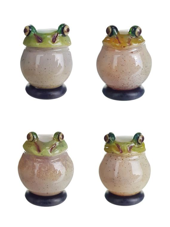 AQUARIUST - Fortune Frog Glass Terp Slurper Marble (Pick One)