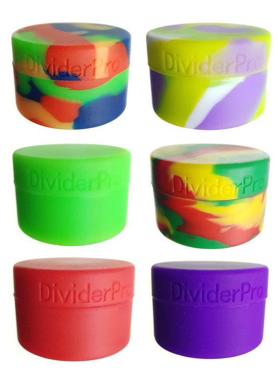 "DIVIDER PRO - 1.5"" Silicone Storage Container w/ Divider (Pick a Color)"
