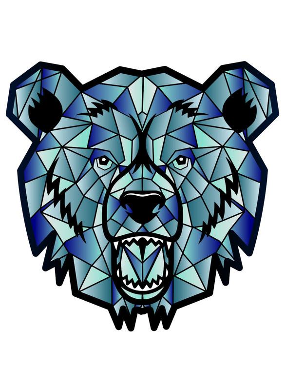 MOODMATS - Bong Pad & Dab Rig Coaster - Iced Bear