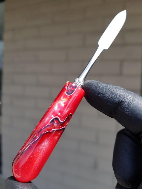 HEADYTOOLZ - Stainless Steel Dabber w/ Handmade Multi-Color Resin Handle - #16