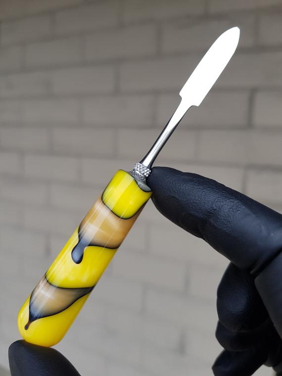 HEADYTOOLZ - Stainless Steel Dabber w/ Handmade Multi-Color Resin Handle - #20