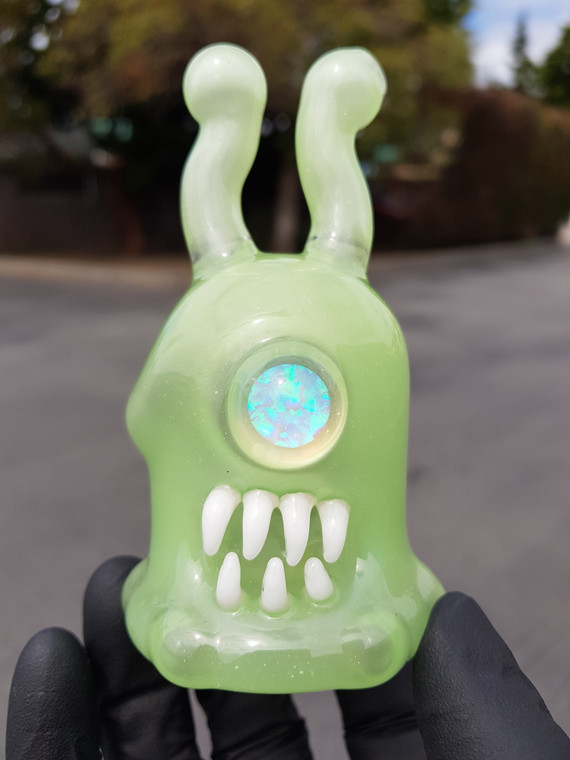 DREWBIE  - Mini Evil Opal Sluggo Dab Rig w/ 10mm Female Joint - Double Dose / Grape