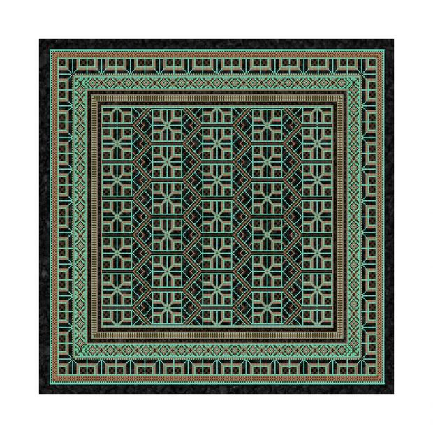 """MOODMATS - 8"""" Square Bong Pad & Dab Rig Coaster - Choco-Mint Carpet"""
