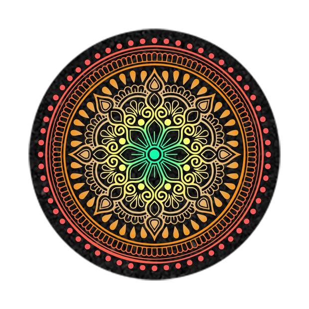 "MOODMATS - 8"" Round Bong Pad & Dab Rig Coaster - Desert Les Fleurs"