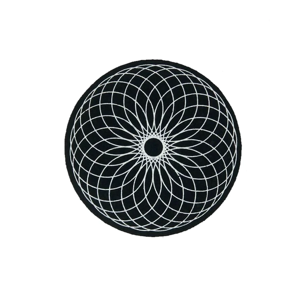 "MOODMATS - 5"" Round Bong Pad & Dab Rig Coaster - Cosmic Torus"