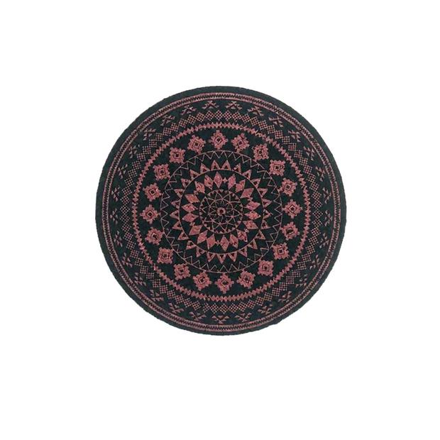 "MOODMATS - 5"" Round Bong Pad & Dab Rig Coaster - Rust Azteca"