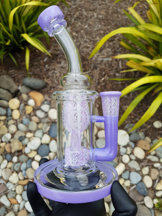 OJ x CATERPILLAR - Incycler Dab Rig w/ 14mm Female Joint - Lavender