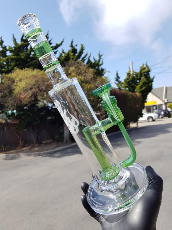 "STEPHAN PEIRCE GLASS - ""The Cutlass"" Tube w/ Matching 14mm Slide - Plantphibian"