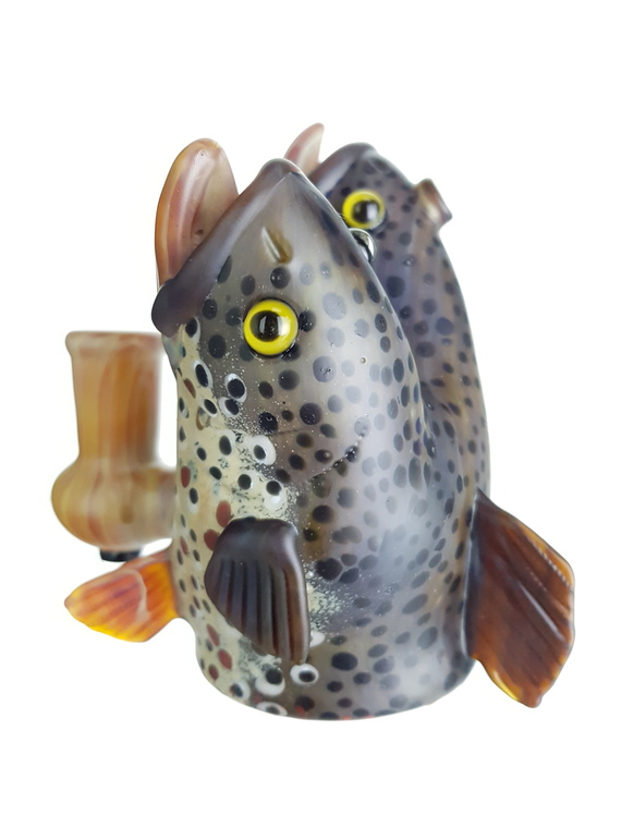 """TRAPPER STUDIO - """"Polycephaly Series"""" Brown Trout Dab Rig Full Set"""
