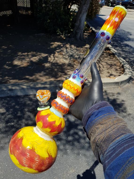 "JEROME BAKER DESIGNS - ""The Brazilian"" Double Bubble Water Pipe - #2"