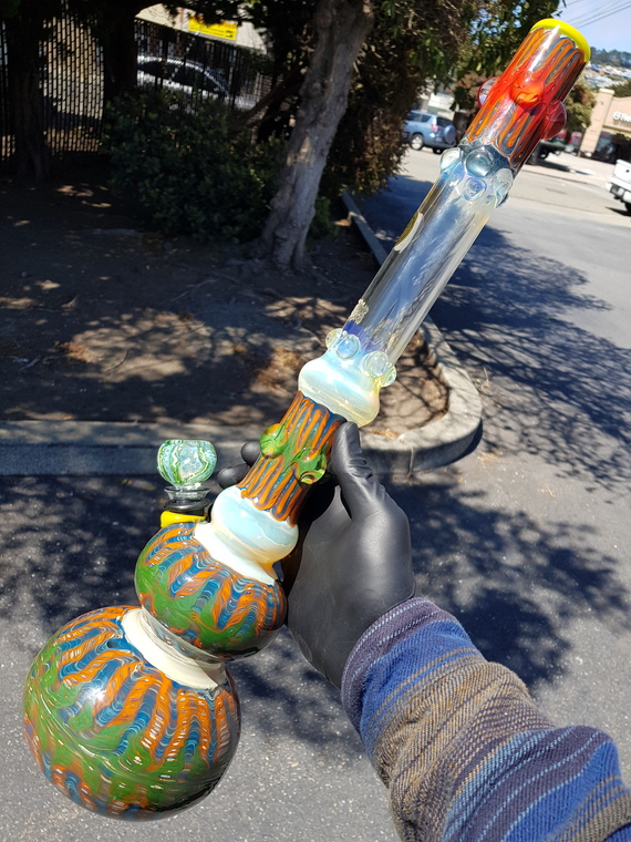 "JEROME BAKER DESIGNS - ""The Brazilian"" Double Bubble Water Pipe - #3"