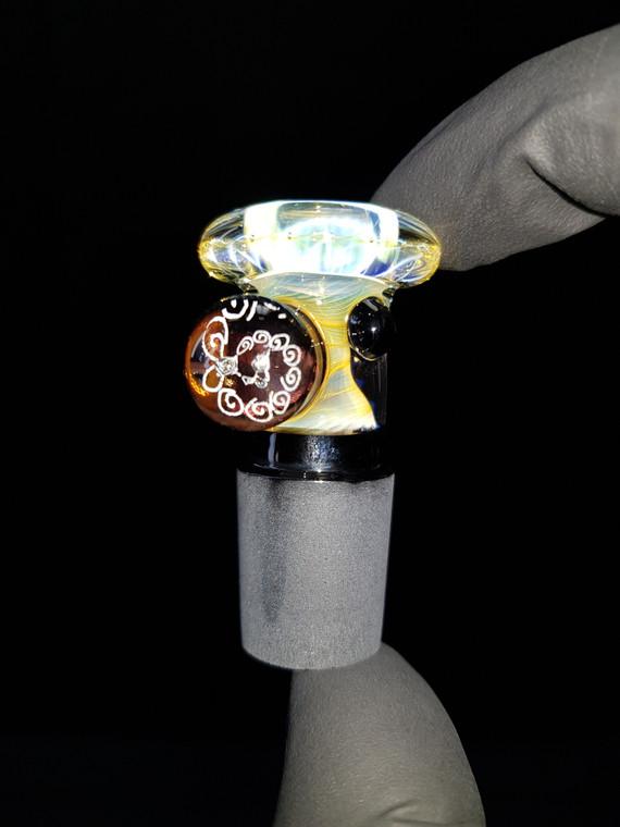 BONELORD Glass - Heady Fumicello Slide w/ 18mm Joint - #1