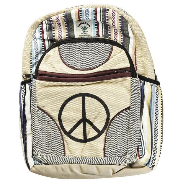 THREADHEADS - Himalayan Hemp Backpack- Simple Peace