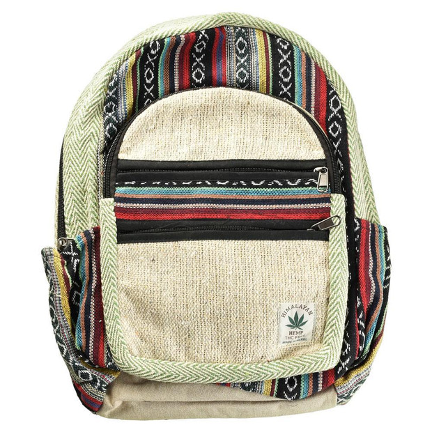 THREADHEADS - Himalayan Hemp Backpack - Multi Zipper