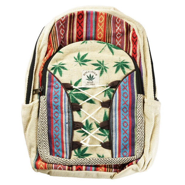 THREADHEADS - Himalayan Hemp Backpack - Green Leaf