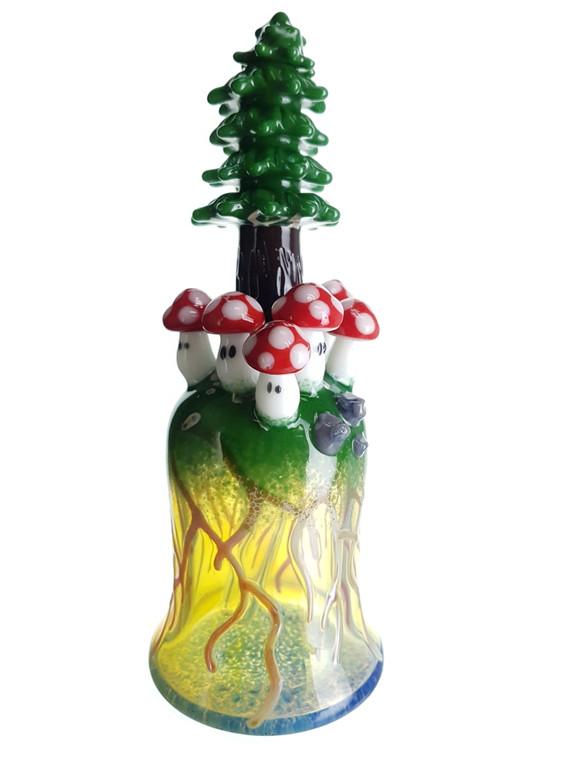 LOS 1 GLASS - Tree Dab Rig w/ Power Up Mushrooms - #2