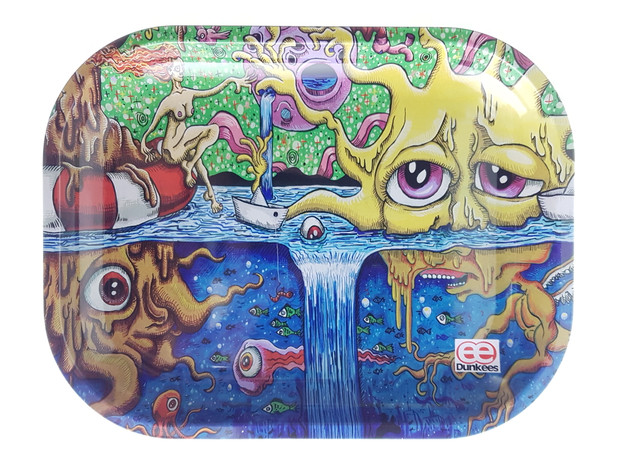 """DUNKEES - Metal Rolling Tray (5.5"""" x 7"""") - Save Your Sunshine"""