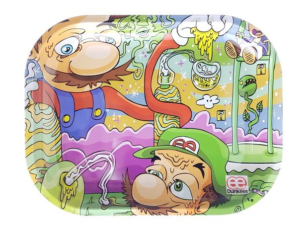 """DUNKEES - Metal Rolling Tray (5.5"""" x 7"""") - Candy Land"""