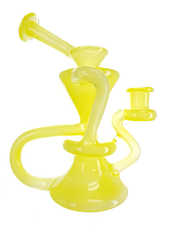 MCGREW - Floater Recycler Rig w/ 14mm Female Joint - Lemon Meringue