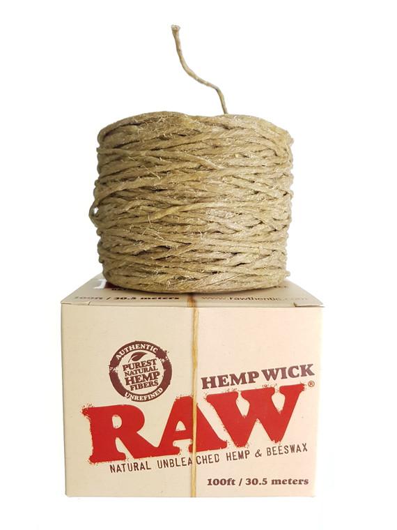 RAW - Natural Hemp Wick - 100ft. Roll