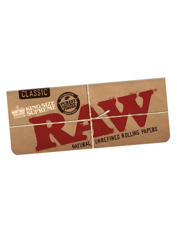 RAW - Classic Natural Rolling Papers (King Size Supreme)
