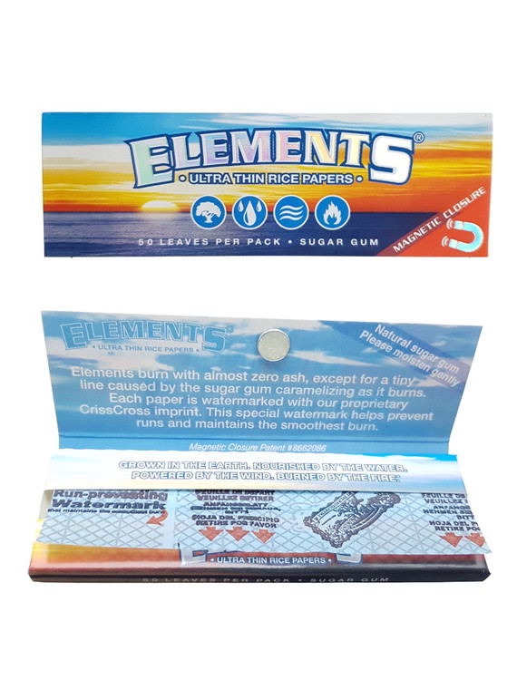 """ELEMENTS - Ultra Thin Rice Rolling Papers (1.25"""")"""