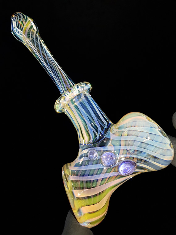 KING LEO - Fume Spiral Glass Hammer Pipe - #7