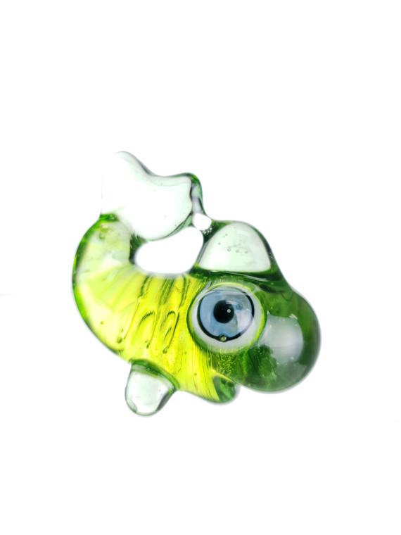 CAT JIVE - Glass Gold Fish Pendant - Crippy