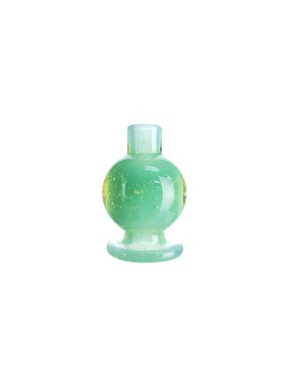 BRADLEY MILLER - Glass Bubble Carb Cap for the Puffco Peak - Green Apple