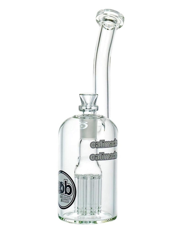 ZOB GLASS - 8 Arm Tree Wubbler w/ 18mm Recessed Female Joint & Slide - 75mm (Pick a Logo)