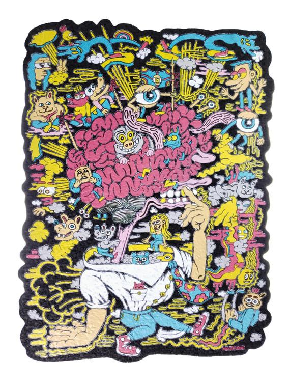 EAST COASTERS - Artist Series Bong Pad & Dab Rig Coaster - Flip Ya Lid