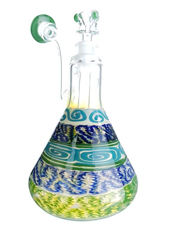 HVY GLASS  - Color Cane Beaker Bubbler - #1