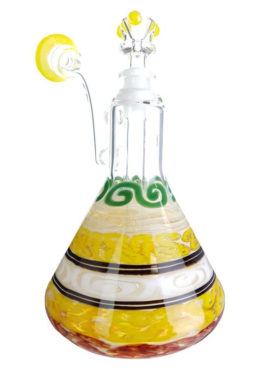 HVY GLASS  - Color Cane Beaker Bubbler - #2