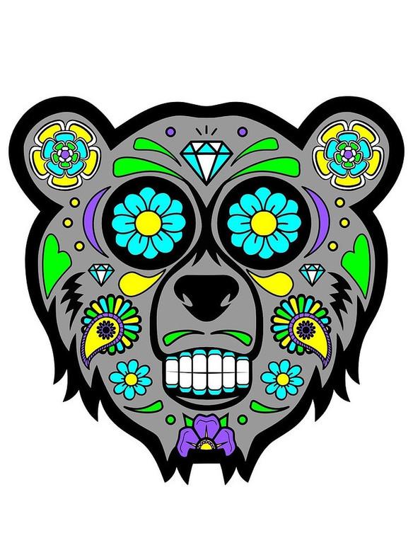 MOODMATS - Bong Pad & Dab Rig Coaster - Sugar Bear