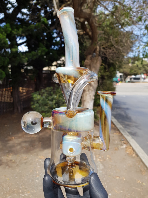 FLAVOURTOWN - Double Uptake Recycler w/ 4-hole Perc & 14mm Female Joint - #2