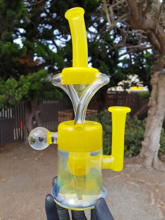 FLAVOURTOWN - Double Uptake Recycler w/ 4-hole Perc & 14mm Female Joint - #5