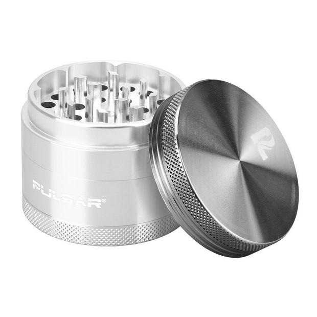 "PULSAR - Gunmetal/Silver 4-Piece Grinder - 2.5"""